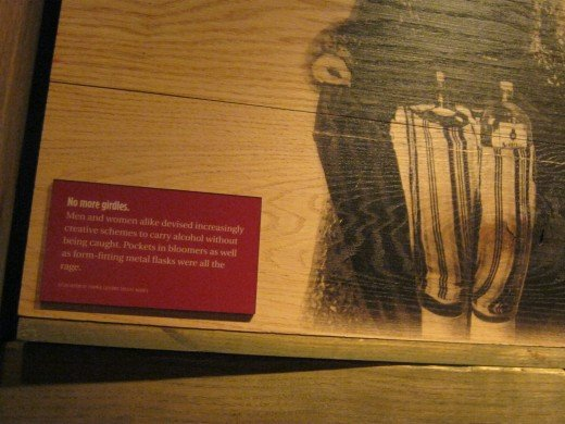 "Women had ""pockets"" sewn into their bloomers to hide liquor bottles back in the days of Prohibition."