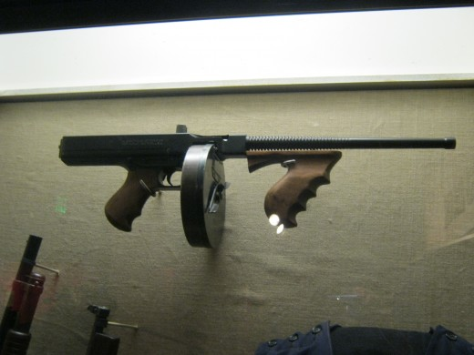 "A ""Tommy"" gun on display."