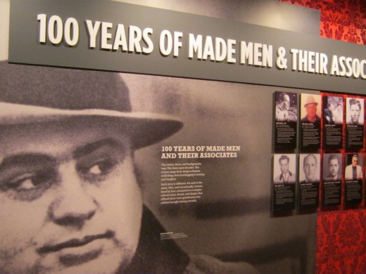 "100 years of ""Made"" men, another interesting display in the Las Vegas Mob Museum"