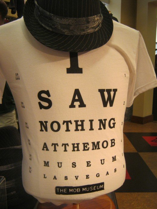 """I Saw Nothing At The Mob Museum Las Vegas""... a pretty good way to sum up your trip, just pair it up with a hat like this and you're all set to declare your... I saw nothingness!"