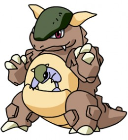 Kangaskhan is one of only 2 Pokemon that can get the Scrappy ability without the Dream World