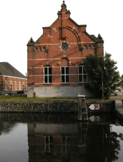Brick buildings from 1885 once housed the gasworks and company offices