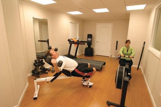 A brag-worthy basement gym