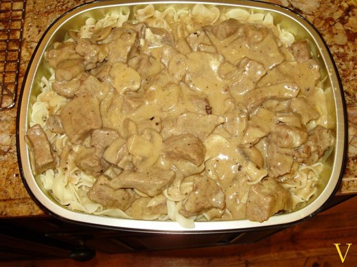 Your family will love this chicken stroganoff served over noodles or rice.