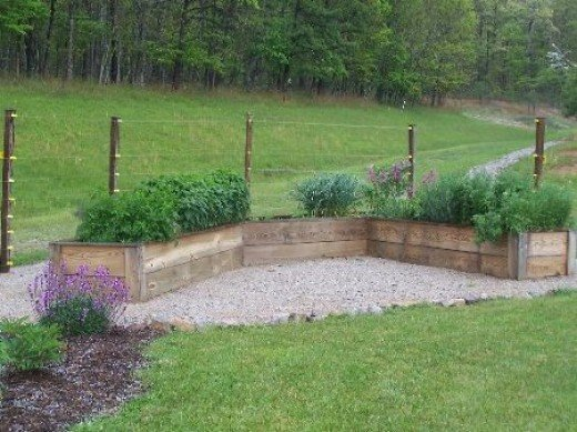 Cedar Planks Make attractive and functional raised beds.