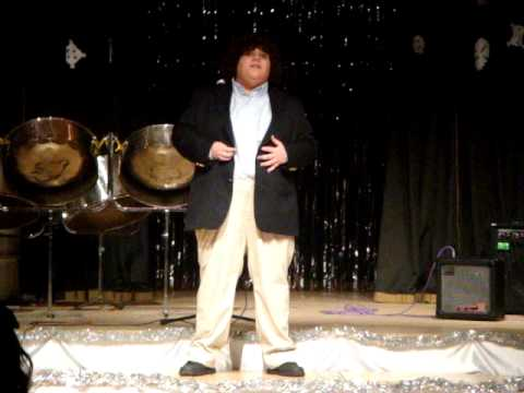 Jonathan performing at a school function several years ago at age 14
