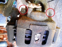 The two caliper Bolts
