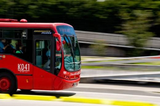 Bus in Bogota, Columbia