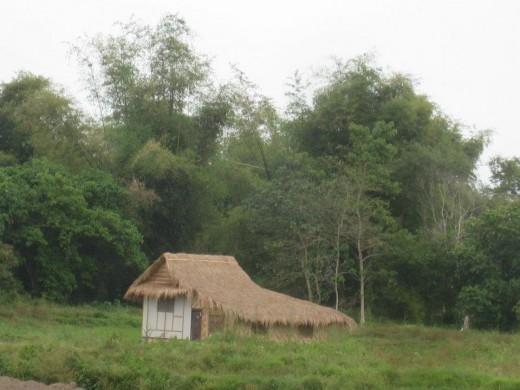 A native house -bahay kubo - at Dinalupihan, Bataan