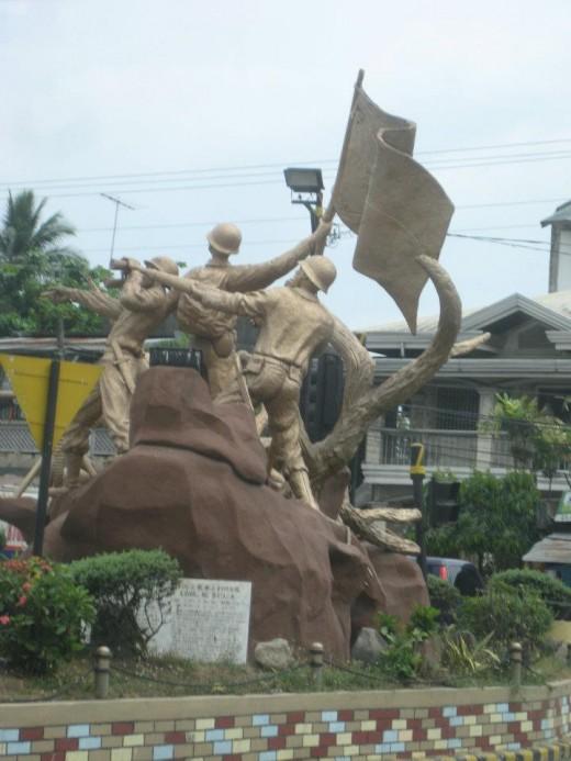 The Heroes statue in Bataan
