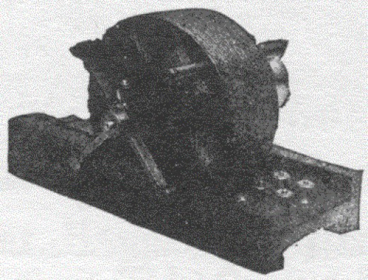 The first alternating current induction motor, first invented by Nikola Tesla