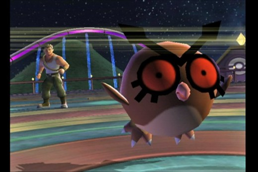 Hoothoot in the Pokemon Battle Revolution wii Game