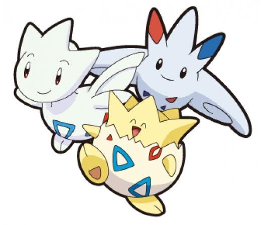 Togepi, Togetic and Togekiss - the Togepi evolution family!