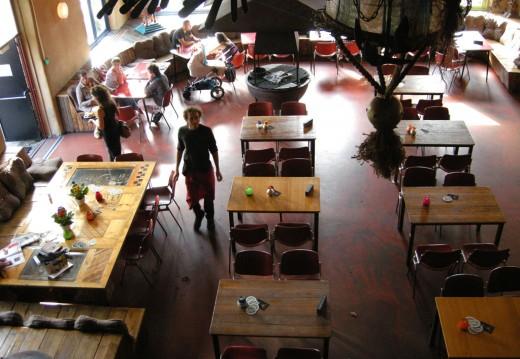 Interior of the Pacific Parc restaurant