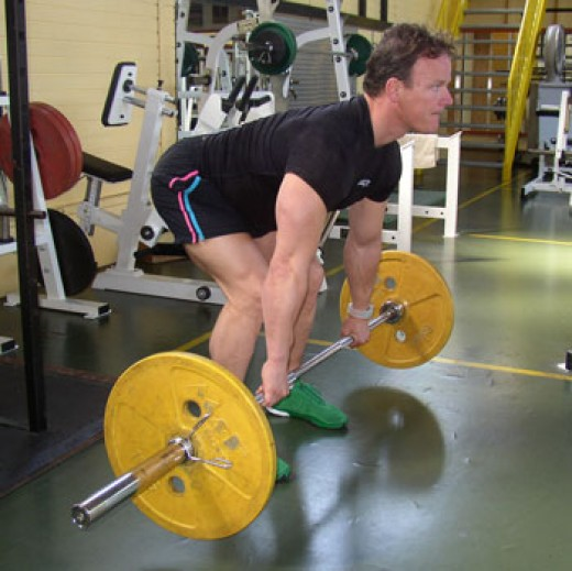 how to do a bent over row