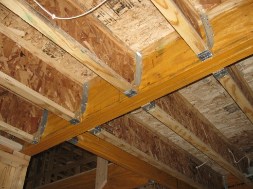 Manufactured I-Joists in New Home