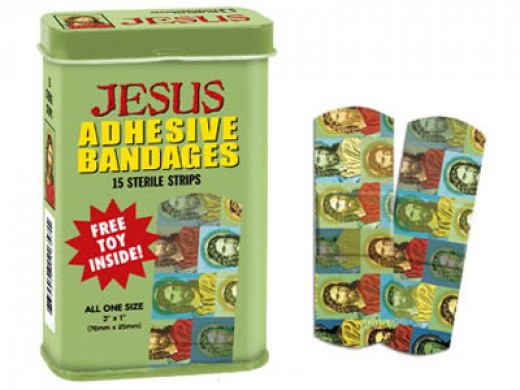 Jesus's bandaids will help heal hurt feelings