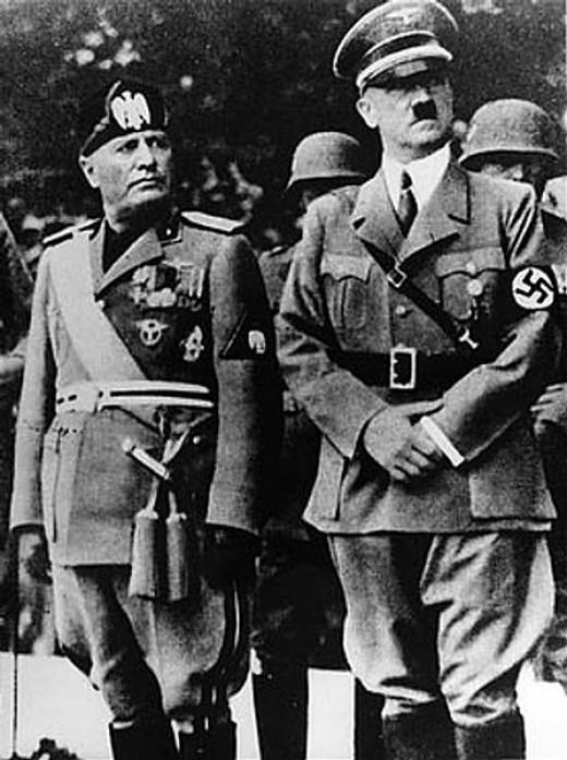 The Fuhrer and Benito Mussolini