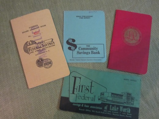 Old Bank Books - Much of the Missing Money Held by States comes from forgotten Bank Accounts