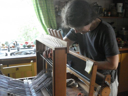 A Mother at her loom
