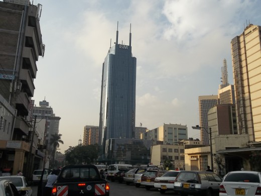 The I & M building as seen from Muindi Mbingu Street