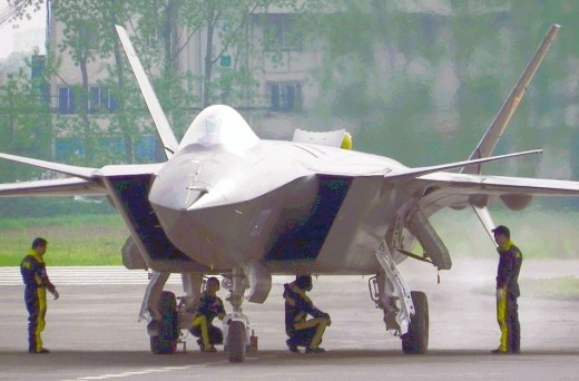 J-20 stealth fighter at Chengdu air base,China
