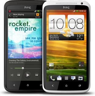 HTC One X Black and Polar White