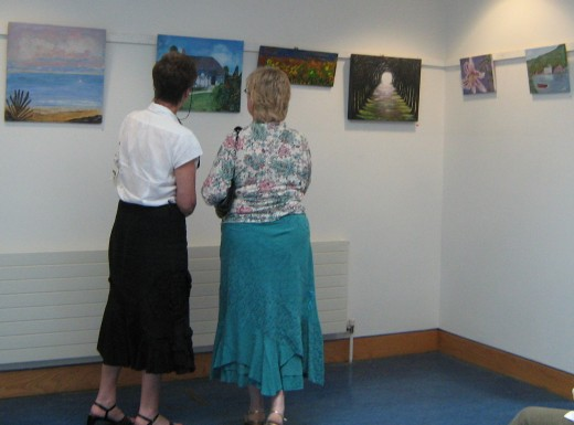 Painting Exhibition in the library by my Art Group