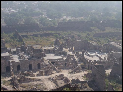 Golconda fort=A panoramic view inside