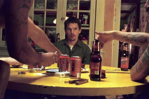 A scene with Ethan Hawke from the movie Training Day