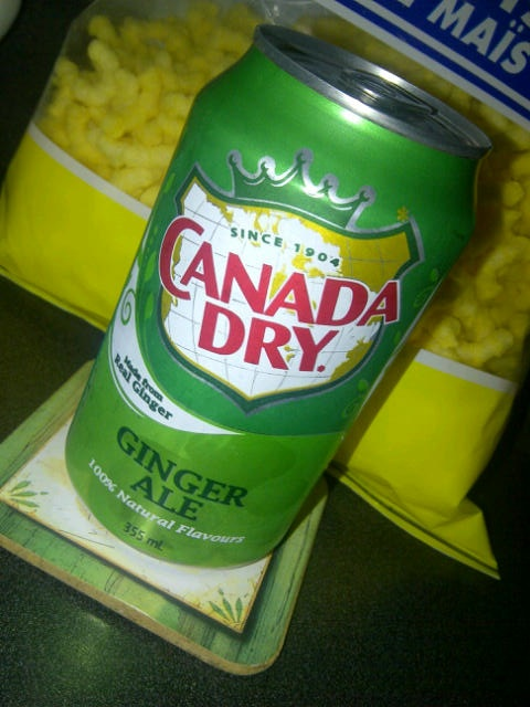 Ginger Ale (perfect for my corn twists)