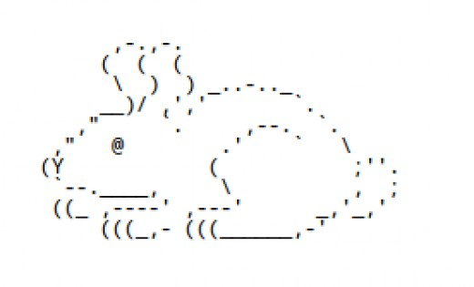 Text Drawings Simple: Domo Kun Character Unicode Text Art