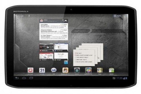 The Motorola Droid Xyboard 10.1 tablet features a 1.2 gigahertz processor, a 5-megapixel camera and a 32 GB hard drive.