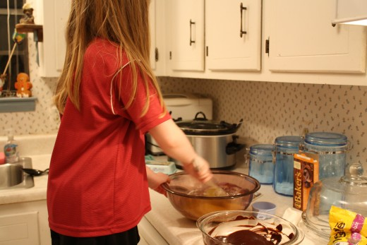 Making brownies