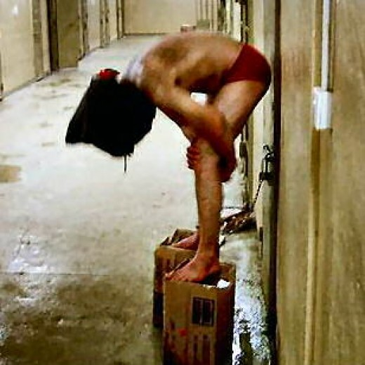 Stress positions and humiliation are techniques that were uncovered in the Al Ghahib torture prison in Iraq.