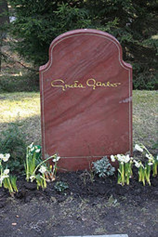 Garbo's grave in Sweden