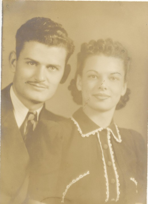 My grandparents, Wilma and Jack, August of 1940.