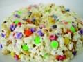 Quick recipe for Popcorn Cake.