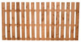 Flat-pickets fencing panel