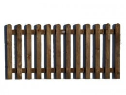 Rounded-pickets fencing panel