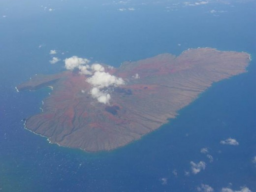 One of the many small islands in the Hawaiian Archipelago