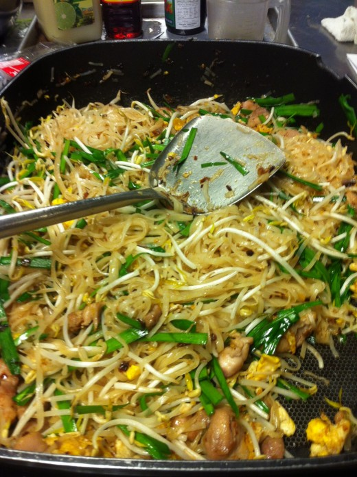 Pad Thai mixed and ready to serve!