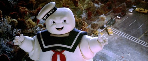 Ghostbusters movies...and giant marshmallows