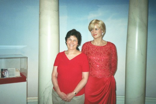 Enjoying a day trip to New York City, at Madame Taussaud's Wax Museum.( With Princess Diana!)
