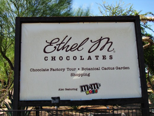 Ummmmm.... Ethel M. Chocolate Factory, free tour and FREE samples, who could ask for more?