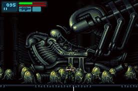 The legendary 'Space Jockey' can be found as you explore Aliens: Infestation on the DS