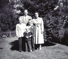 My aunt, uncle and cousins who lived in Madison, Wisconsin.