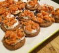 Salmon Tartare with Red Onion Creme Fraiche: A Great Party Appetizer Recipe