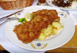 Austrian Food - Breaded Veal Cutlet (Wiener Schnitzel)
