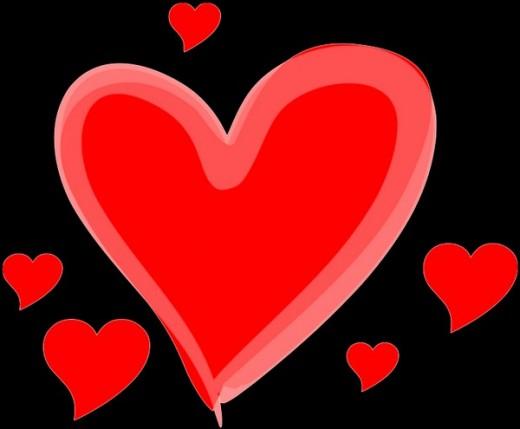 Wikimedia Drawn Love Hearts